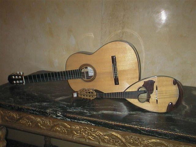 mandolino Pandini e chitarra De Miranda