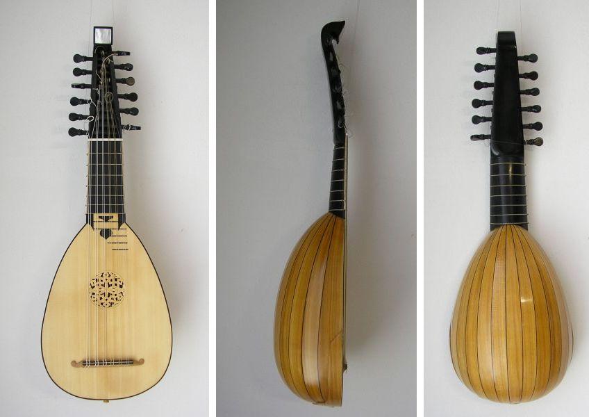 mandolino lombardo a 6 ordini doppi di Anna Radice (Bologna 2014), da F. Bosi (Bologna, 1753)