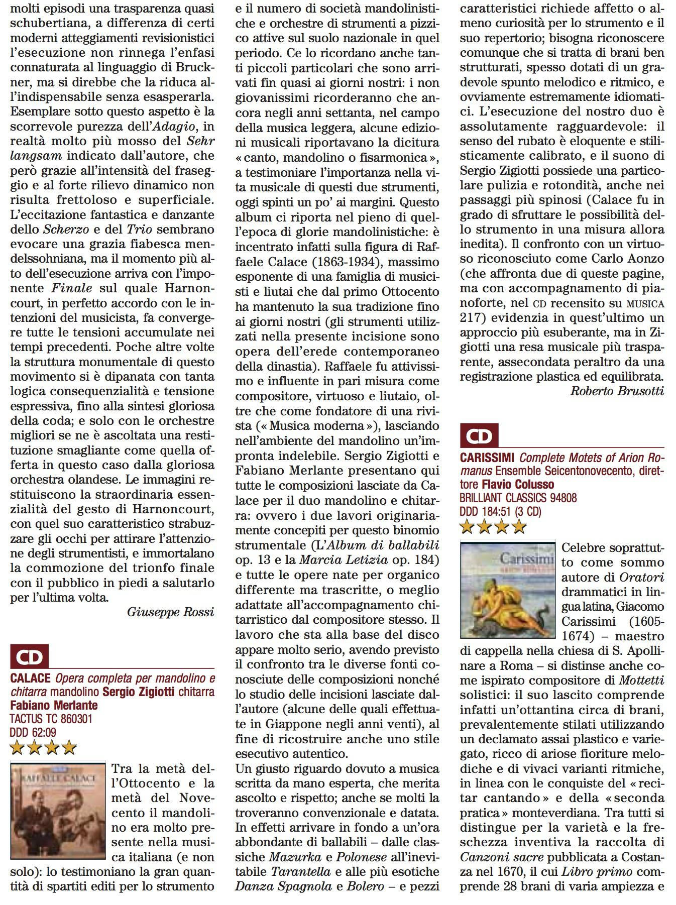 """Recensione pubblicata su """"Musica"""", n. 261, novembre, 2014"""